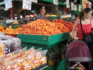 It is the fruit stand,where a variety of fruits are displayed.
